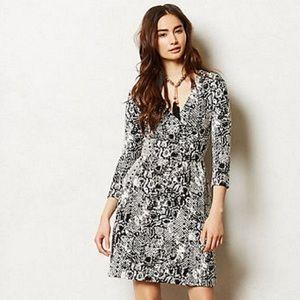 HD in Paris Textured Wrap Dress - Size Medium